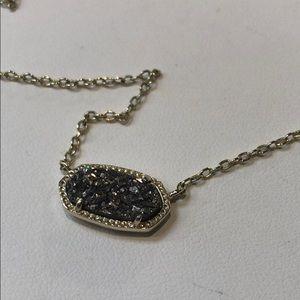 Kendra Scott drusy quartz necklace